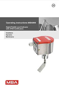 Operating Instructions MBA800
