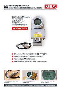 Produktinformation MLA1000-TX