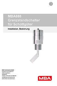 Betriebsanleitung MBA888