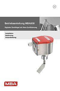 Betriebsanleitung MBA800