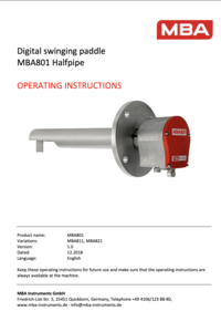 Operating Instructions MBA801